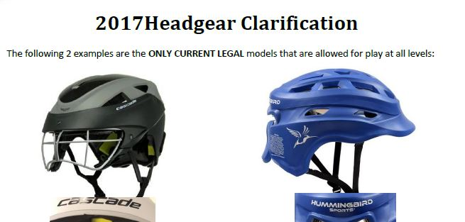 Headgear Clarification - 2017